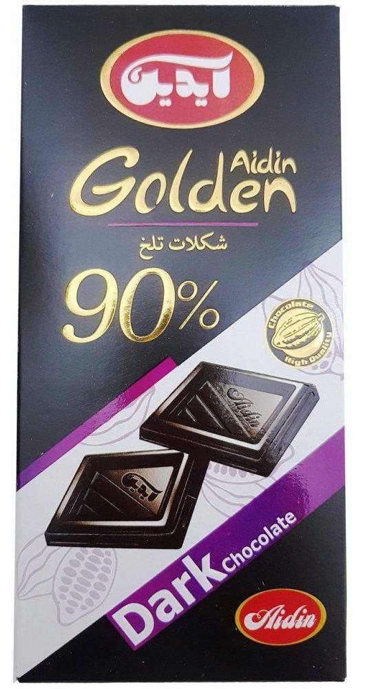 شکلات تلخ 90 درصد آیدین-100 گرم