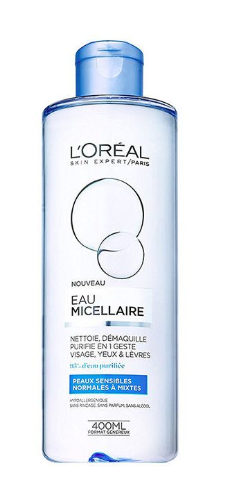 میسلار واتر محلول پاک کننده لورآل مدل Normal to Combination Skin