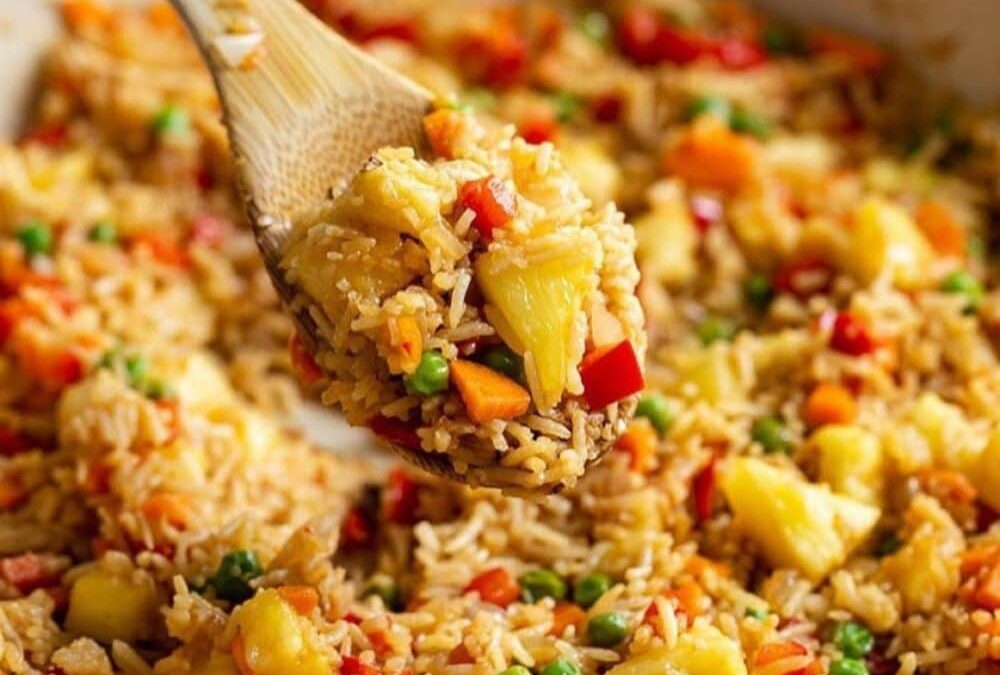 برنج و آناناس : مواد لازم و طرز تهیه سریع آن