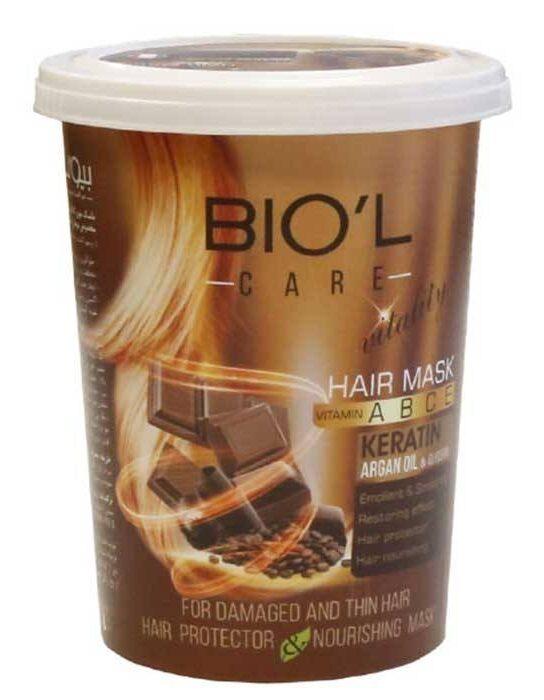 ماسک مو بیول سری Vitality مدل Chocolate حجم 500 میلی لیتر