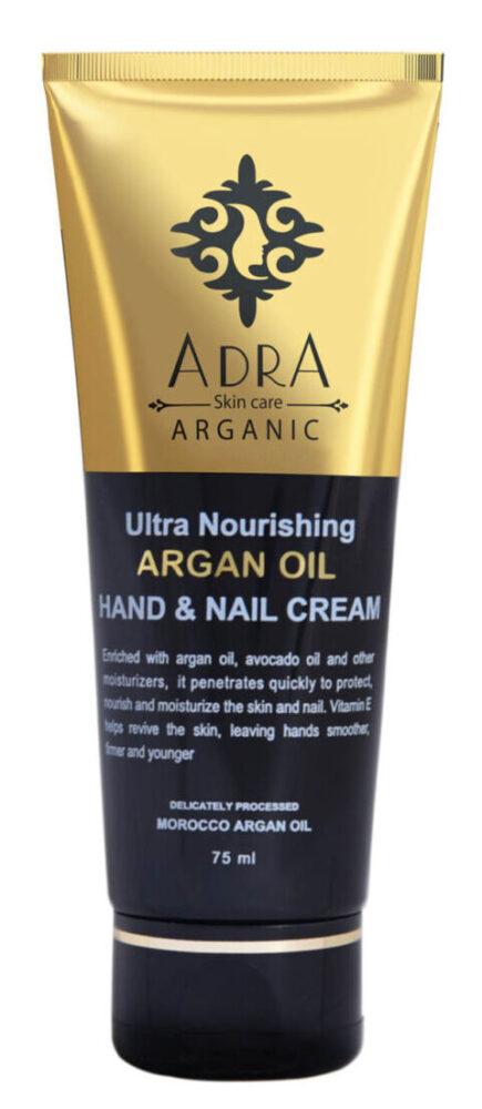 کرم مرطوب کننده دست و ناخن آدرا مدل Argan Oil حجم 75 میلی لیتر