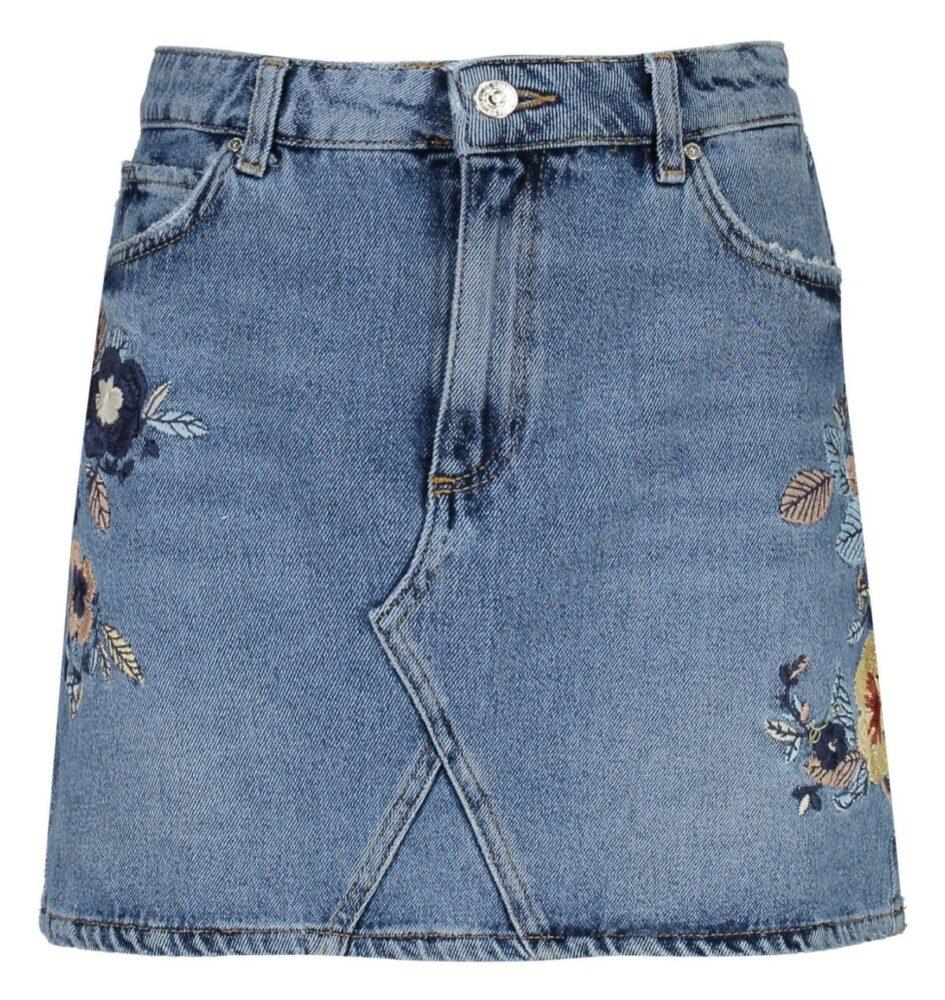 خرید لباس دامن جین کوتاه زنانه - مانگو