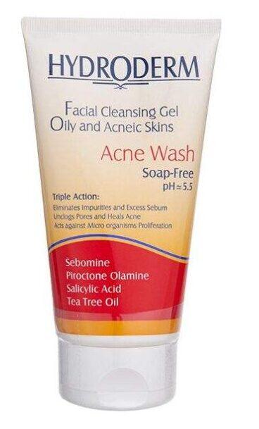 پاک کننده صورت ژل شستشو صورت هیدرودرم مدل Oily Skin مقدار 150 گرم