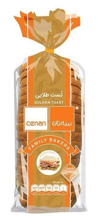 نان تست طلایی سه نان مقدار 530 گرم