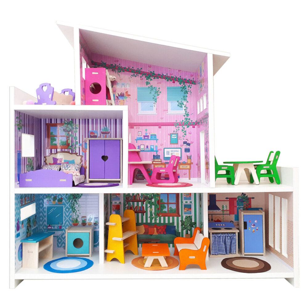خرید کادو برای دختران اسباب بازی خانه عروسک کد 214