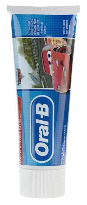 خمیر دندان کودک اورال بی سری Junior +3 Years مدل Cars حجم 75 میلی لیتر