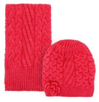 خرید لباس ست کلاه و شال گردن بافتنی دخترانه مدل D8130