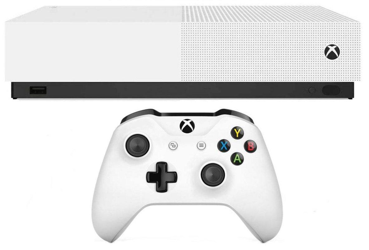 خرید کادو برای پسران کنسول بازی مایکروسافت مدل Xbox One S ALL DIGITAL ظرفیت 1 ترابایت به همراه 20 عدد بازی