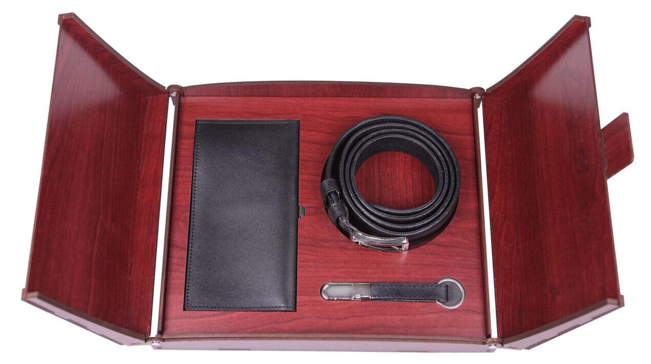 خرید کادو برای پسران ست هدیه چرم ماکان کد seth-3t