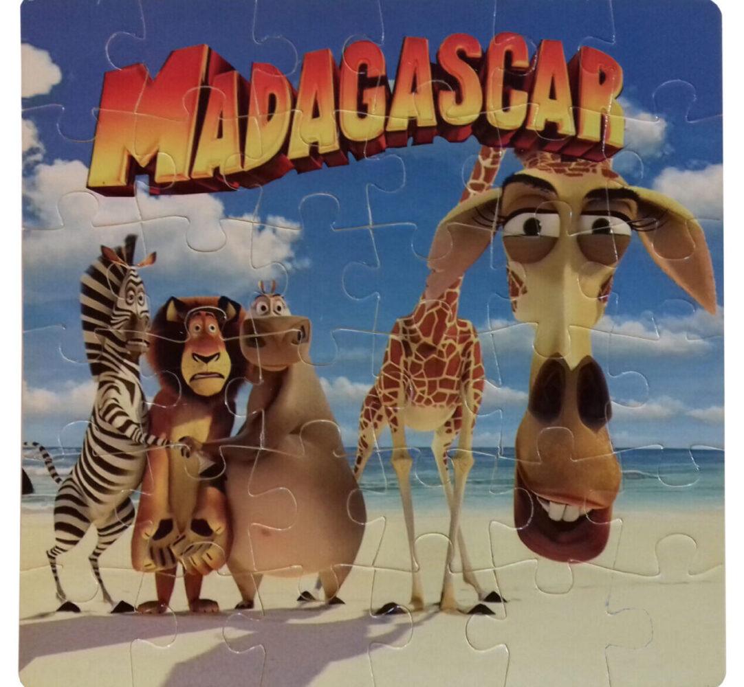 خرید کادو برای پسران پازل 35 تکه طرح ماداگاسکار مدل PF10