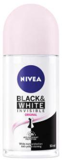 رول ضد تعریق زنانه نیوآ مدل Black & White Invisble حجم 50 میلی لیتر