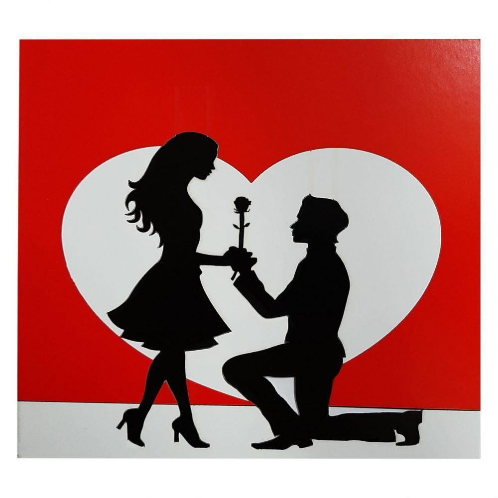 کادوی ولنتاین برای دختران کارت پستال مدل سه بعدی تبریک روز عشق کد DLL37R