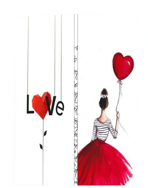 کادوی ولنتاین برای دختران کارت پستال کاف پستال طرح عاشقانه کد Kaf_T1001