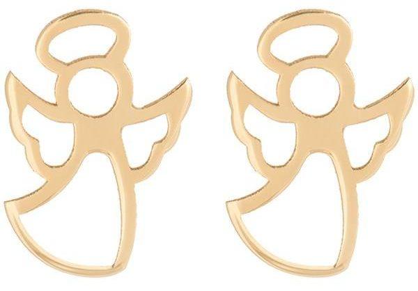 کادوی ولنتاین برای دختران گوشواره طلا 18 عیار رزا مدل EG22