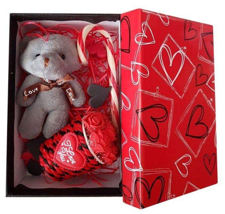 کادوی ولنتاین برای دختران ست هدیه عروسک طرح خرس کد A-333