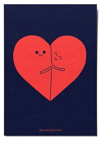 کادوی ولنتاین برای دختران کارت پستال ماسا دیزاین طرح دوستی کد POST181