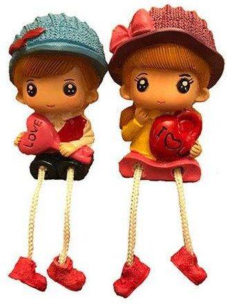 کادوی ولنتاین برای دختران مجسمه طرح دختر و پسر کد RM-6979 مجموعه 2 عددی