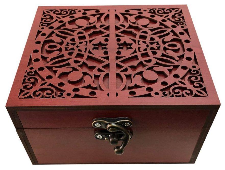کادوی ولنتاین برای دختران جعبه هدیه چوبی مدل j67