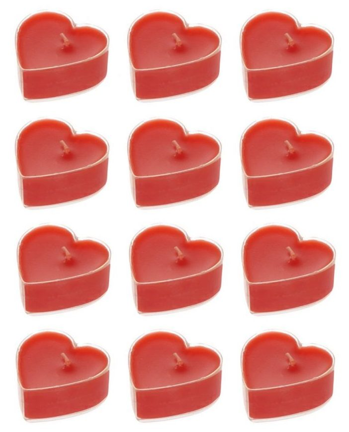 کادوی ولنتاین برای دختران شمع وارمر وای سی طرح قلب مدل E25 بسته 12 عددی