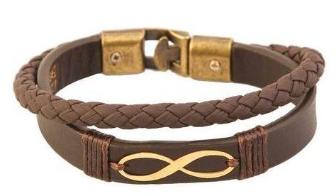 کادوی ولنتاین برای دختران دستبند طلا 18 عیار کابوک مدل 175009 طرح بینهایت