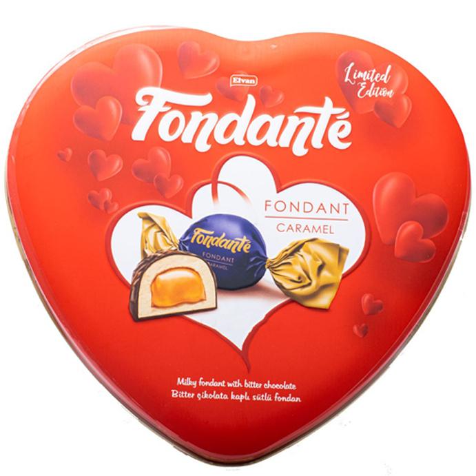کادوی ولنتاین برای دختران شکلات کادویی با مغز کارامل فوندانت - 300 گرم