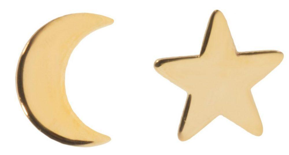 کادوی ولنتاین برای دختران گوشواره طلا 18 عیار رزا مدل EG116