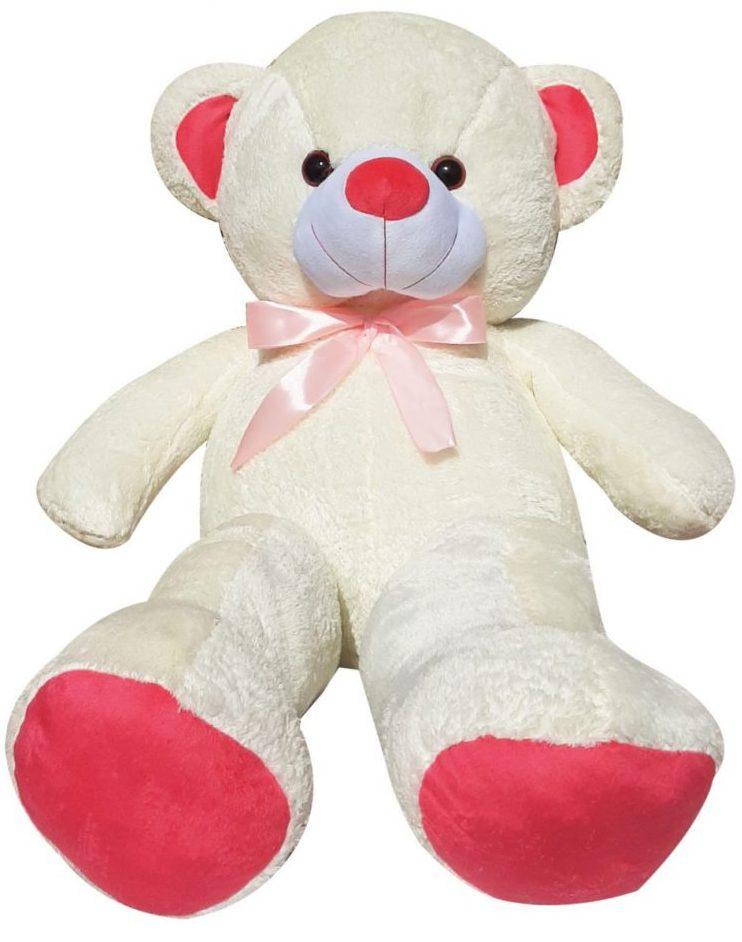 کادوی ولنتاین برای دختران عروسک طرح خرس پاپیونی کد 6 ارتفاع 100 سانتی متر