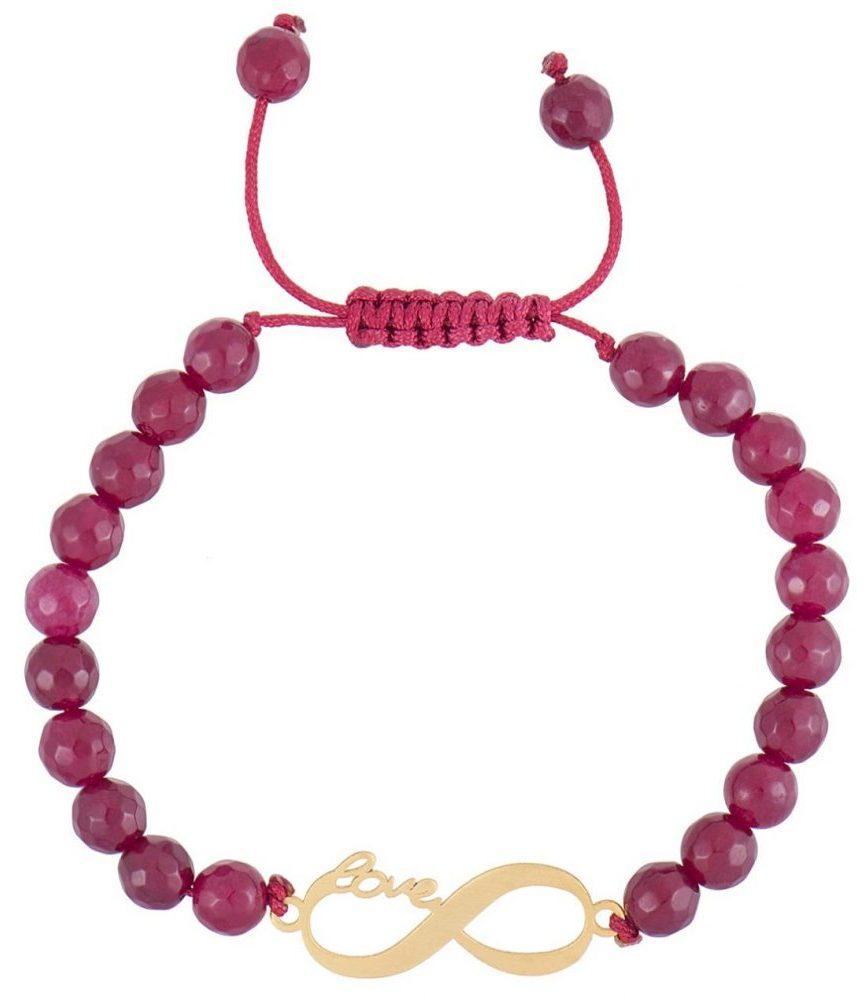 کادوی ولنتاین برای دختران دستبند طلا 18 عیار رزا مدل BS84
