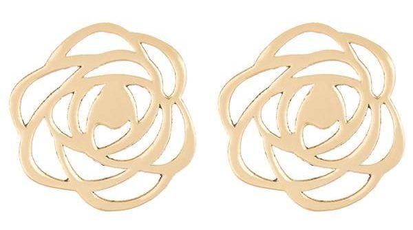 کادوی ولنتاین برای دختران گوشواره طلا 18 عیار رزا مدل EG19