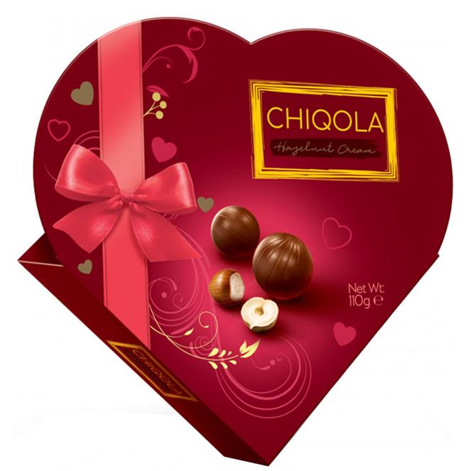کادوی ولنتاین برای دختران شکلات کادویی با مغز فندق Jony & co چیکولا - 110 گرم