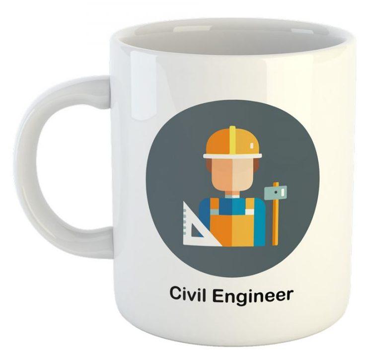 کادو برای مهندس ماگ طرح مهندس عمران کد 00121