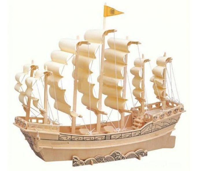 کادو برای مهندس پازل چوبی سه بعدی رایا مدل کشتی بادبانی