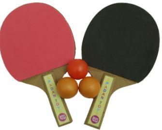 تنیس روی میز-راکت پینگ پونگ اسپادان تویز مجموعه 2 عددی به همراه توپ