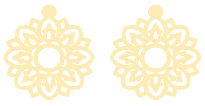 گوشواره طلا 18 عیار زنانه کرابو طرح گل مدل Kr5113