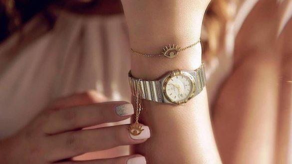آویز ساعت طلا