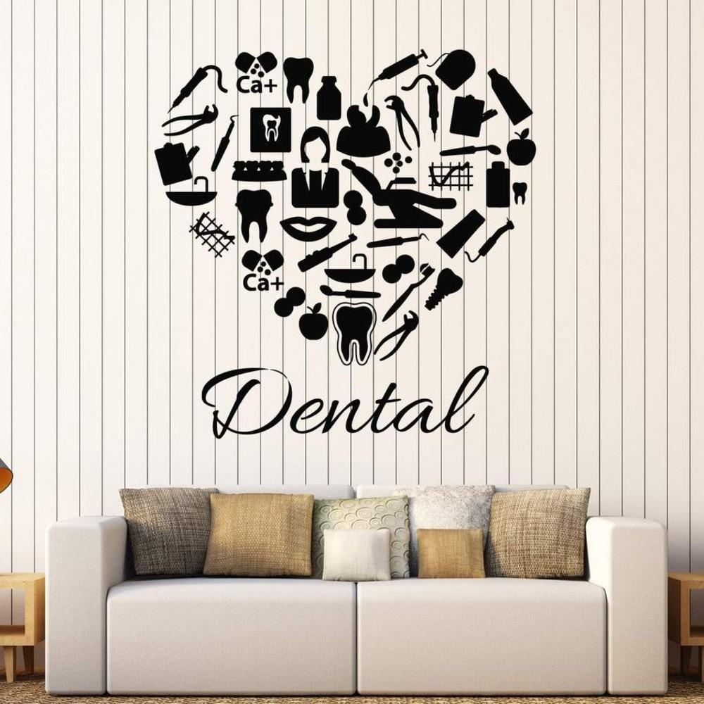 استیکر وی وین آرت طرح دندان پزشکی کد S94