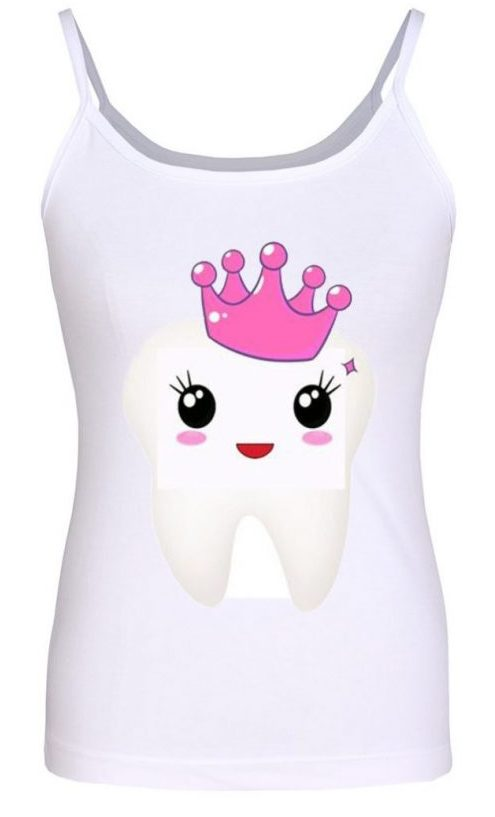 تاپ زنانه طرح دندان کد 1124