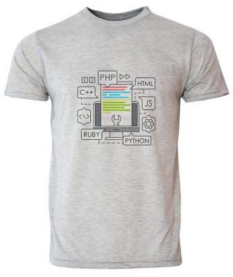 تی شرت مردانه طرح برنامه نویس کد 20054